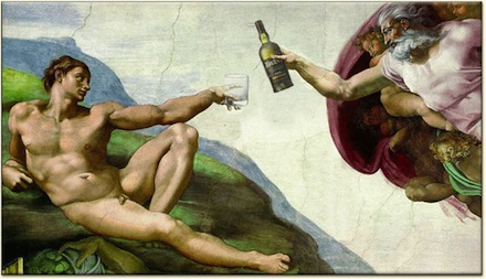 God Gives Whisky, as envisioned by Michelangelo