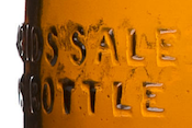detail of bottle showing federal statement