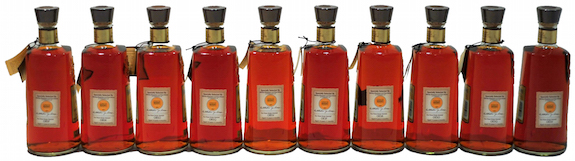 Lineup of all Four Roses Single Barrel Selections - Icons of Whiskey