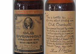 6 1/2 years old Old Overholt from the original barrels
